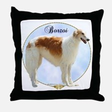 Borzoi Portrait Throw Pillow