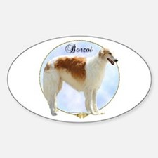 Borzoi Portrait Oval Decal