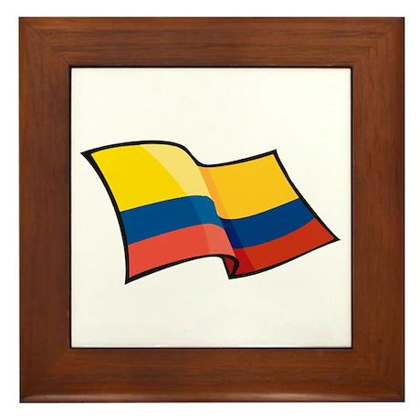 Colombian Flag Framed Tile