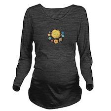 SOLAR SYSTEM Long Sleeve Maternity T-Shirt