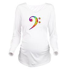 Bass Clef - paint sp Long Sleeve Maternity T-Shirt