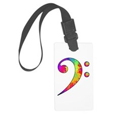 Bass Clef - paint splattered Luggage Tag