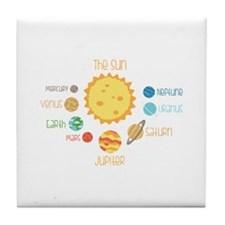 Planets and Sun Tile Coaster