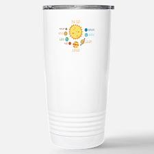 Planets and Sun Travel Mug