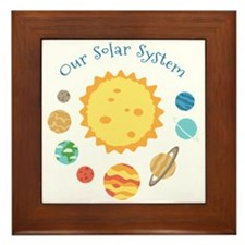 Our Solar System Framed Tile