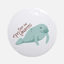 Save The Manatees Ornament (Round)