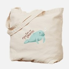 Save The Manatees Tote Bag