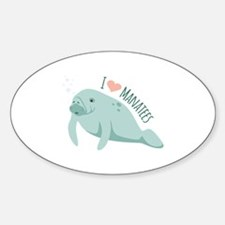 I love Manatees Decal
