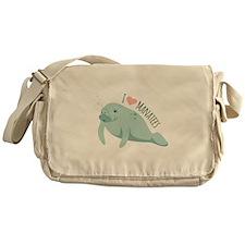 I love Manatees Messenger Bag