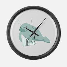 HUG ME! Large Wall Clock