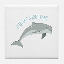 Flippin Good Time! Tile Coaster