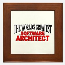 """""""The World's Greatest Software Architect"""" Framed T"""