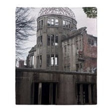 A bomb dome hiroshima Throw Blanket