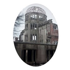 A bomb dome hiroshima Oval Ornament