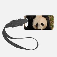 Cute Black and White Panda Face Luggage Tag