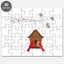 Winter Birdhouse Love Puzzle