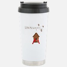 Winter Birdhouse Love Travel Mug