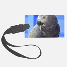 Itching Grey Parrot Luggage Tag
