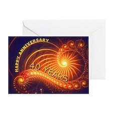 40th anniversary card, swirling lights Greeting Ca
