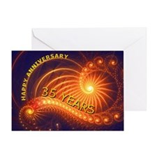 35th anniversary card, swirling lights Greeting Ca