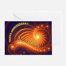 35th anniversary card, swirling lights Greeting Ca