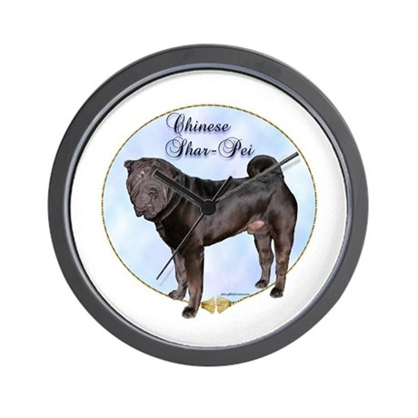 Shar Pei Portrait Wall Clock