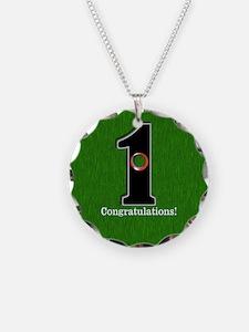 Customized Lucky Golf Hole i Necklace