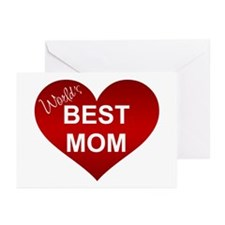 WORLD'S BEST MOM Greeting Cards (Pk of 10)