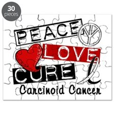 Carcinoid Cancer Peace Love Cure 1 Puzzle