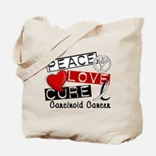 Carcinoid Cancer Peace Love Cure 1 Tote Bag