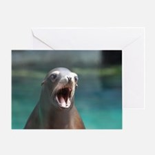 Roaring Sea Lion Greeting Card