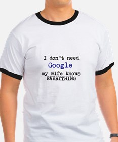 Google vs Wife T-Shirt