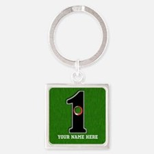 Customized Lucky Golf Hole in One Square Keychain