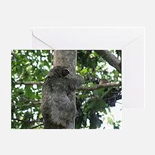 Climbing Sloth Greeting Card