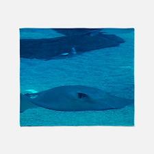 Stingray Underwater Throw Blanket
