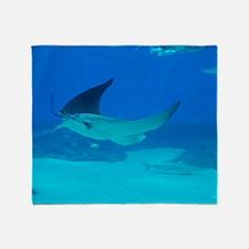 Stingray Swimming Throw Blanket