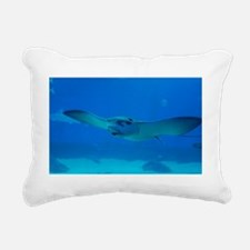 Stingray Swimming Rectangular Canvas Pillow