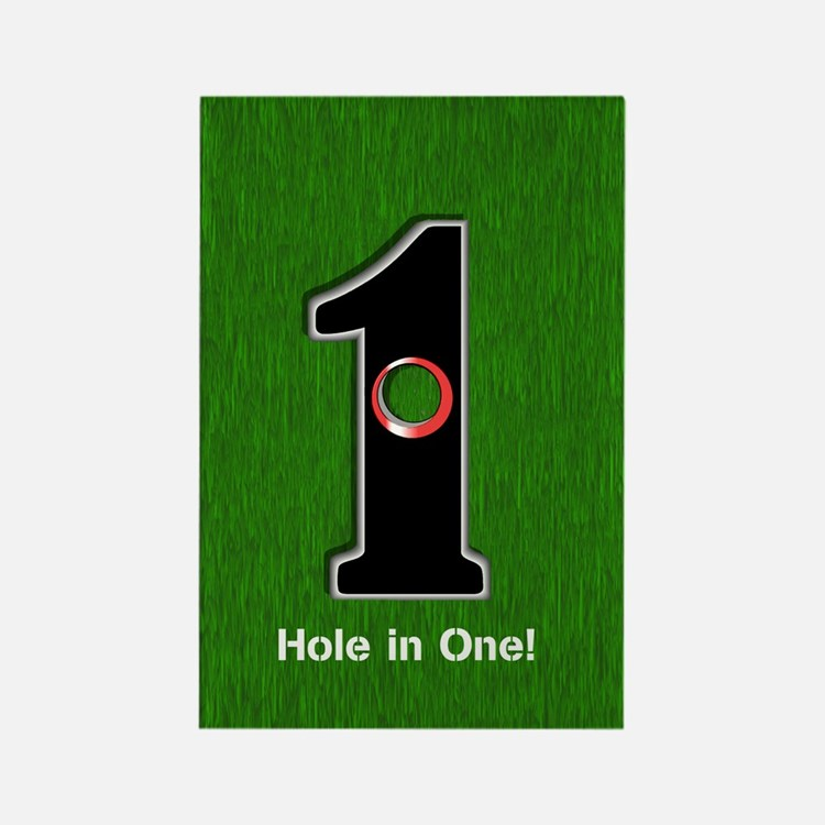 Customized Lucky Golf Hole in One Rectangle Magnet
