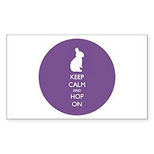 Keep Calm And Hop On - Purple Decal