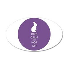 Keep Calm And Hop On - Wall Sticker