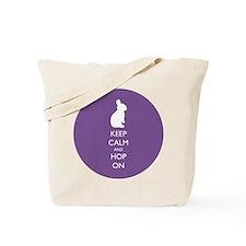 Keep Calm and Hop On - purple Tote Bag