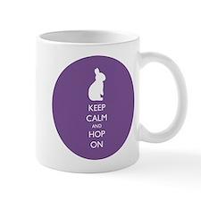 Keep Calm and Hop On - purple Mugs