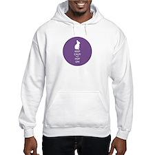 Keep Calm and Hop On - purple Hoodie