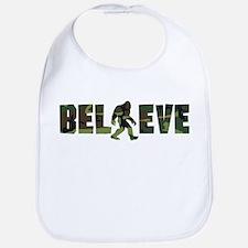 Camouflage Believe Bigfoot Bib