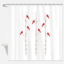 Cardinals in Trees Shower Curtain