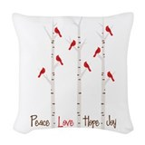 Cardinal bird Throw Pillows