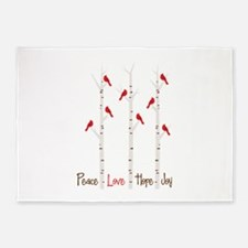 Peace Love Hope Day 5'x7'Area Rug