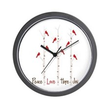 Peace Love Hope Day Wall Clock