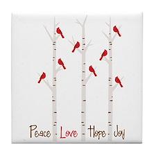 Peace Love Hope Day Tile Coaster