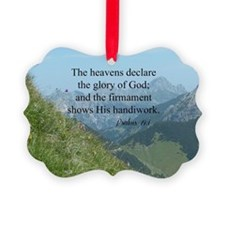 Bible verse, Psalms 19:1 Ornament